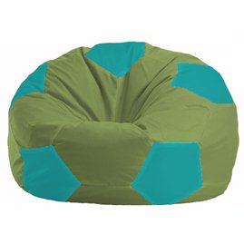 Кресло-мешок Мяч оливковый - бирюзовый М 1.1-230