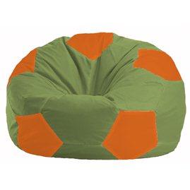 Кресло-мешок Мяч оливковый - оранжевый М 1.1-227