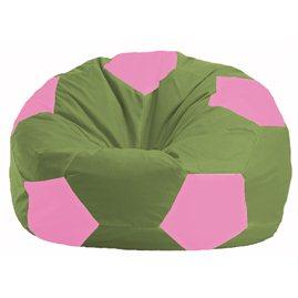 Кресло-мешок Мяч оливковый - розовый М 1.1-226