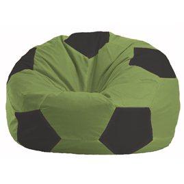 Кресло-мешок Мяч оливковый - чёрный М 1.1-460