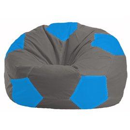 Кресло-мешок Мяч серый - голубой М 1.1-337