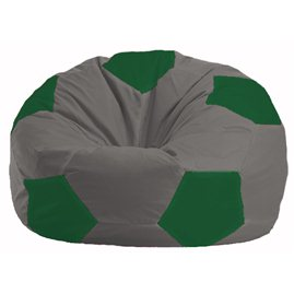 Кресло-мешок Мяч серый - зелёный М 1.1-339