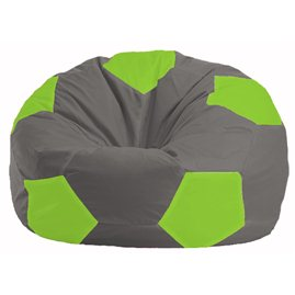Кресло-мешок Мяч серый - салатовый М 1.1-343
