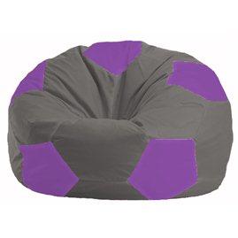 Кресло-мешок Мяч серый - сиреневый М 1.1-346