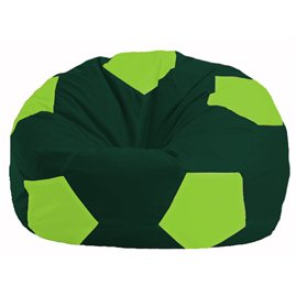 Кресло-мешок Мяч тёмно-зелёный - салатовый М 1.1-63