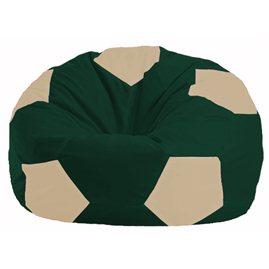 Кресло-мешок Мяч тёмно-зелёный - светло-бежевый М 1.1-62
