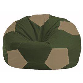 Кресло-мешок Мяч тёмно-оливковый - бежевый М 1.1-52