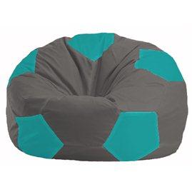 Кресло-мешок Мяч тёмно-серый - бирюзовый М 1.1-465