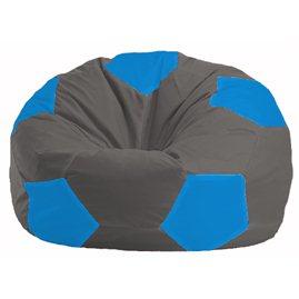 Кресло-мешок Мяч тёмно-серый - голубой М 1.1-359