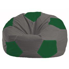 Кресло-мешок Мяч тёмно-серый - зелёный М 1.1-361