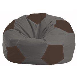 Кресло-мешок Мяч тёмно-серый - коричневый М 1.1-470