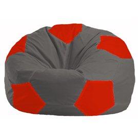 Кресло-мешок Мяч тёмно-серый - красный М 1.1-362