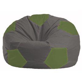 Кресло-мешок Мяч тёмно-серый - оливковый М 1.1-468