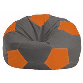 Кресло-мешок Мяч тёмно-серый - оранжевый М 1.1-363