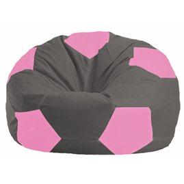 Кресло-мешок Мяч тёмно-серый - розовый М 1.1-364