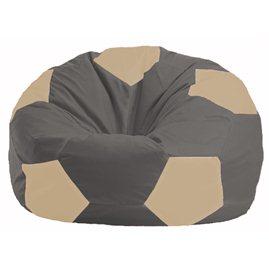 Кресло-мешок Мяч тёмно-серый - светло-бежевый М 1.1-365