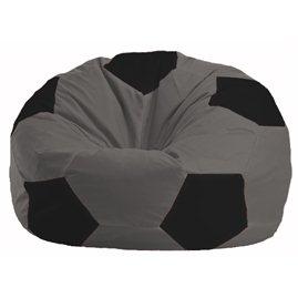 Кресло-мешок Мяч тёмно-серый - чёрный М 1.1-475
