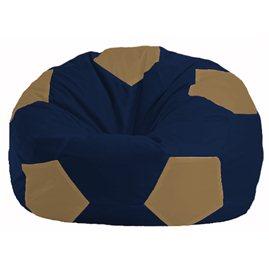 Кресло-мешок Мяч тёмно-синий - бежевый М 1.1-39