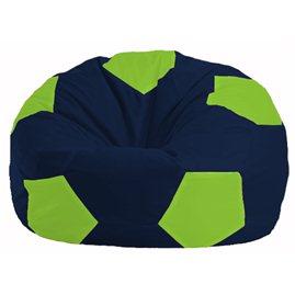 Кресло-мешок Мяч тёмно-синий - салатовый М 1.1-43