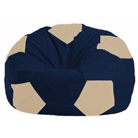 Кресло-мешок Мяч тёмно-синий - светло-бежевый М 1.1-42
