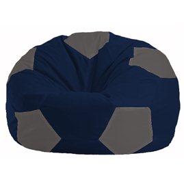 Кресло-мешок Мяч тёмно-синий - серый М 1.1-41