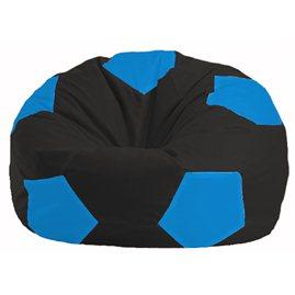 Кресло-мешок Мяч чёрный - голубой М 1.1-395