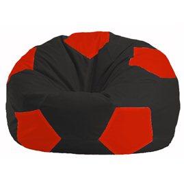 Кресло-мешок Мяч чёрный - красный М 1.1-467