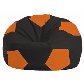 Кресло-мешок Мяч чёрный - оранжевый М 1.1-400