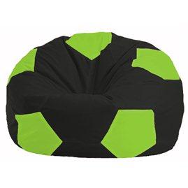 Кресло-мешок Мяч чёрный - салатовый М 1.1-466