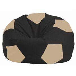 Кресло-мешок Мяч чёрный - светло-бежевый М 1.1-471