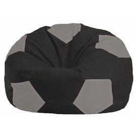 Кресло-мешок Мяч чёрный - серый М 1.1-473
