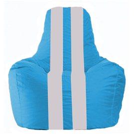Кресло-мешок Спортинг голубой - белый С1.1-282