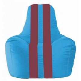 Кресло-мешок Спортинг голубой - бордовый С1.1-281