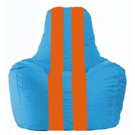Кресло-мешок Спортинг голубой - оранжевый С1.1-278