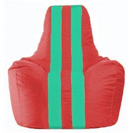 Кресло-мешок Спортинг красный - бирюзовый С1.1-456