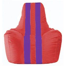 Кресло-мешок Спортинг красный - фиолетовый С1.1-458
