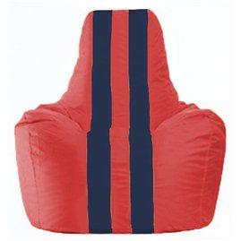Кресло-мешок Спортинг красный - тёмно-синий С1.1-234