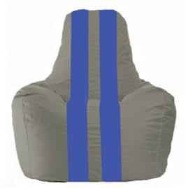 Кресло-мешок Спортинг серый - синий С1.1-345