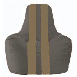 Кресло-мешок Спортинг тёмно-серый - бежевый С1.1-368
