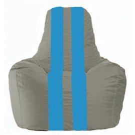 Кресло-мешок Спортинг серый - голубой С1.1-337