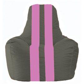 Кресло-мешок Спортинг тёмно-серый - розовый С1.1-364