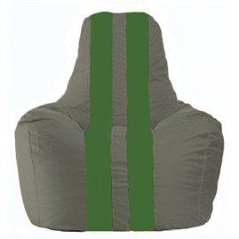 Кресло-мешок Спортинг тёмно-серый - зелёный С1.1-361
