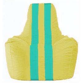 Кресло-мешок Спортинг жёлтый - бирюзовый С1.1-264