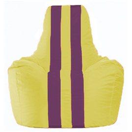 Кресло-мешок Спортинг жёлтый - бордовый С1.1-265