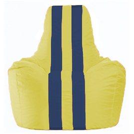 Кресло-мешок Спортинг жёлтый - тёмно-синий С1.1-451