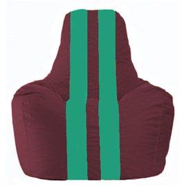 Кресло-мешок Спортинг бордовый - бирюзовый С1.1-311