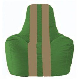 Кресло-мешок Спортинг зелёный - бежевый С1.1-327
