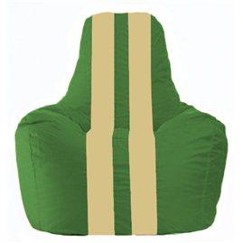 Кресло-мешок Спортинг зелёный - светло-бежевый С1.1-240