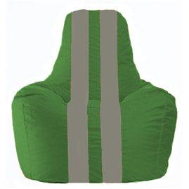 Кресло-мешок Спортинг зелёный - серый С1.1-239