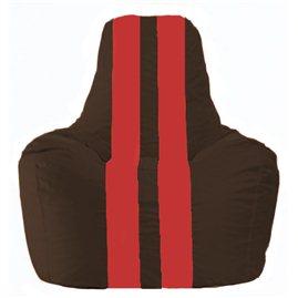 Кресло-мешок Спортинг коричневый - красный С1.1-322